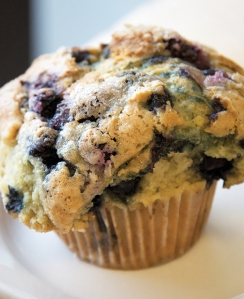 A muffin at Dixie Supply Bakery and Café.