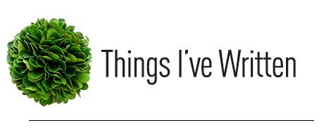 Things-Written
