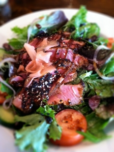 Seared tuna salad at Chan's