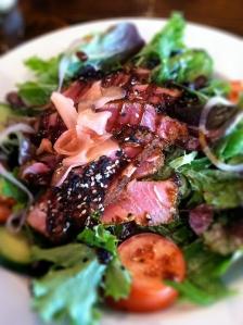 Seared tuna salad at Chan's