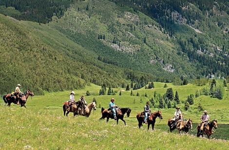 On horseback from Vail to Aspen. Steve Sunday Photography