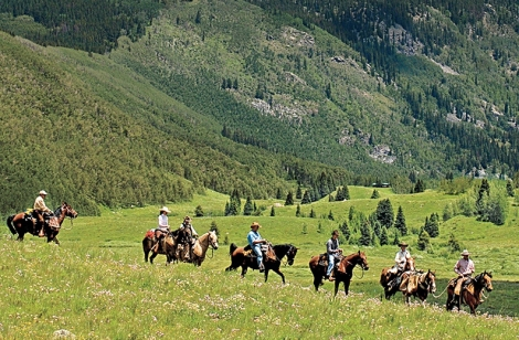 On horseback from Vail to Aspen. Steve Sunday Photography