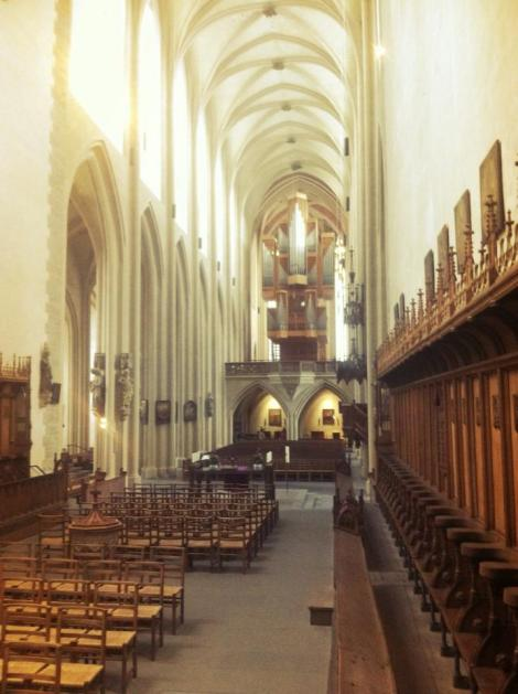 While I was touring the St. Jacob's church in Rothenburg the organist came in to practice. The sound that reverberated though the giant stone sanctuary was perhaps the most majestic thing I have ever heard.