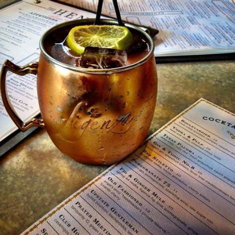 Delicious Fig and Ginger Mule at The Henry in Phoenix.