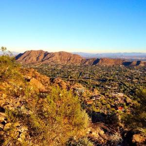 Panoramic views from the top of Camelback Mountain.